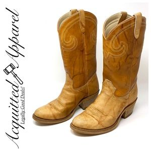Texas | Leather Marble Look Cowboy Boots